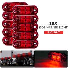 10x 12V/24V 2 LED Luz Marcador Lateral Indicador Rojo para Camión Furgoneta Auto