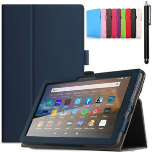 For Amazon Kindle Fire HD 8 2020 HD 8 Plus 2020 Case Leather Smart Stand Cover