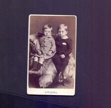 CDV 2 Young Boys Sitting,photo Mitchell Forfar,Kirriemuir & Falkirk ZB1
