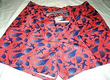 Southern Tide Mens Sea Life Hot Coral Orange Swim shorts Trunks NWT Ships Free