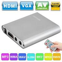 Mini 1080P Full HD Digital Media Player TV Box Hard Disk Decoder USB R/L MP3 WMA