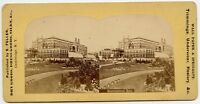 Dry, Dress Goods Ad Cambrige N.Y.  Stereoview  Horticultural Hall Philadelphia