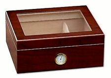 New Prestige Import Group Chalet Glasstop Cherry Cigar Humidor