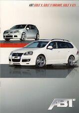 Volkswagen Golf Mk5 ABT Tuning 2009 German Market Sales Brochure