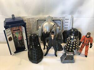 DR DOCTOR WHO DALEK TARDIS K9 FIGURES BUNDLE SPARES OR REPAIRS CUSTOM FODDER