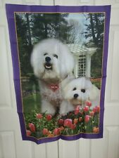 Willabee & Ward Bichon Frises Wall Hanging Dog Mom Puppy Mother Flag Banner b8