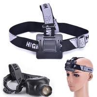 Elastic Headband Helmet Strap Mount Head Strap For Bike light Headlamp Band nBHQ