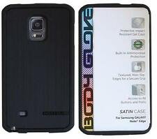 OEM Body Glove Satin Thin Snap on Case Cover For Samsung Galaxy Note Edge Black