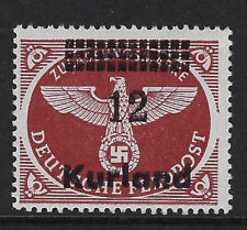 GERMAN OCCUPATION OF COURLAND : 194512 on (-) chestnut perf 13 1/2 SG 4A MNH