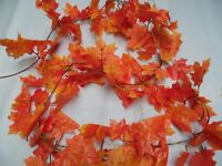 "Artificial 7FT 3"" Autumn Maple Leaf ORANGE Garlands/DECORATION /DISPLAY/WEDDING"