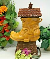 """Vintage McCoy Old Woman Who Lived in a Shoe Cookie Jar CJ45  14"""" tall 13""""long"""