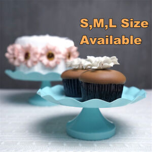 Blue Round Cake Cupcake Stand Pedestal Dessert Holder Wedding Party Decor 3  US