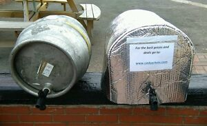 2 ICE SHEETS & 1x INSULATED CASK JACKET cask beer cooler pub bar ale pump barrel