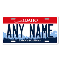 US Metal License Plate - Idaho - Customise your own plate