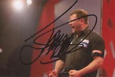 Darts: James Wade 'The Machine' Signed 6x4 Action Photo+Coa