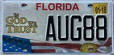 More details for  florida  in god we trust logo american license usa number plate aug 88