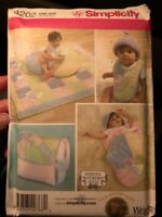 Simplicity 4202 Baby Accessories Bag Quilt Bib Sewing Pattern Wrap Uncut New!