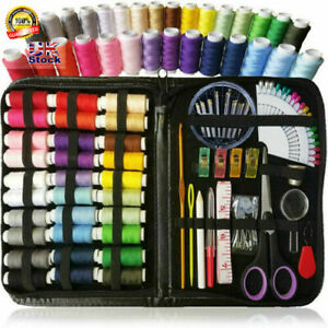 100 Essential Sewing Tools Kit Needlework Box Set For Sewing Machine Home Travel