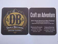 Beer Coaster: DEVIL'S BACKBONE Brewing Co ~ Craft Adventure ~ Roseland, VIRGINIA