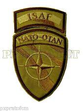 Patch Toppa Scudetto Militare ISAF NATO-OTAN Afghanistan sabbia