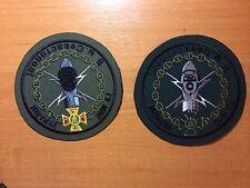 PATCH FIRE BOMB EOD DIVER DIVE SCUBA UKRAINE  (lot 2 patches)  RARE! ORIGINAL!