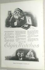 1919 Elgin Watch advertisement, ELGIN Streamline Pocket Watch, Santa Claus