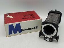 Vintage Minolta-SR Camera Macro Bellows Unit Model 1 100mm/55mm w/ Original Box