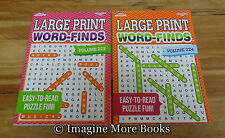 2 NEW Large Print Word-Finds/Search Vol 223 & 224
