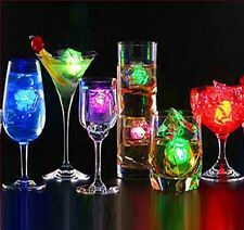 12 Multicolor Changing LED Ice Cube Shape  Liquid Sensor Light for Party US Sell