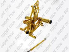 US Gold Rearset Footpeg Rear Set For Kawasaki ZX6R ZX636 2005-2006 2007 2008 SRC