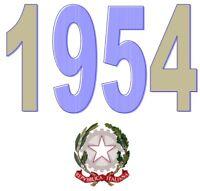 ITALIA Repubblica 1954 Singolo Annata Completa integri MNH ** Tutte le emissioni