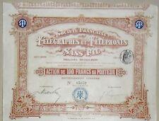 SOCIETE DES TELEGRAPHES ET TELEPHONES SANS FIL 1903