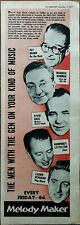 More details for melody maker the men with the gen on your kind of music vintage advert 1957