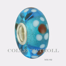 Authentic Trollbeads Silver Single Malawi Bead MK62   65299