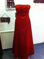 DEBUT DEBENHAMS RED TUCK BUSTLE PROM/BRIDESMAID/EVENING DRESS/BALL GOWN 10/12