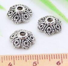30pcs Tibetan Silver Beautiful Bead Caps 11x4mm  (Lead-free)