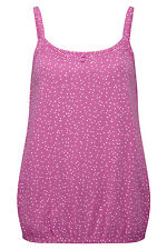 Bonmarche Womens Polka Dot  Vest Scoop Neck Strappy Pink Size 12