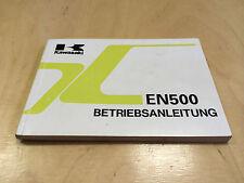 Kawasaki EN 500 Betriebsanleitung / Fahrerhandbuch  (1994)
