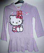 Mädchen Hello Kitty langarm Kaputzen Tunika long Shirt hell lila Gr.98 + 110 NEU