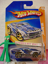 2009 Hot Wheels Track Stars '69 Chevy Chevelle 1969 #62∞Blue∞Chevrolet