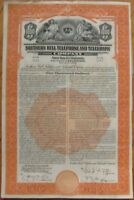 1939 'Southern Bell Telephone & Telegraph' Vertical Bond Certificates- 10 PIECES