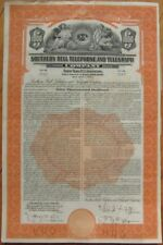 'Southern Bell Telephone & Telegraph Company' 1939 Vertical Bond Certificate