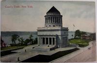 Postcard Antique New York City 1900s Grant's Tomb Hudson River Color 1 cent