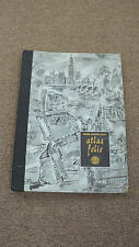 VINTAGE 1958 National Geographic Society Atlas Folio with Maps