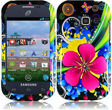 For Samsung Galaxy Centura S738C HARD Case Snap On Phone Cover Etermal Flower