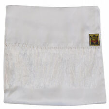 Mens Classic Tubed 100% Silk Ivory White Formal Motorcycle Dress Scarf Goldtop
