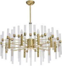 MW-Light 10-Light Modern Pendant Chandelier Candle Style, Gold
