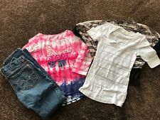 Girls 4 Piece Lot Size 12-14 Aero Jeans and Justice Tops
