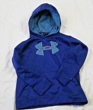 Under Armour boys XS youth blue logo hoodie sweatshirt