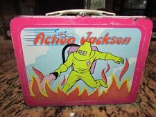 VINTAGE NICE OLD VERY RARE 1973 ACTION JACKSON METAL LUNCHBOX L@@K HERE!